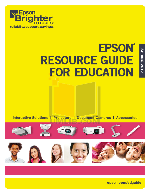 pdf for Epson Projector PowerLite 4300 manual