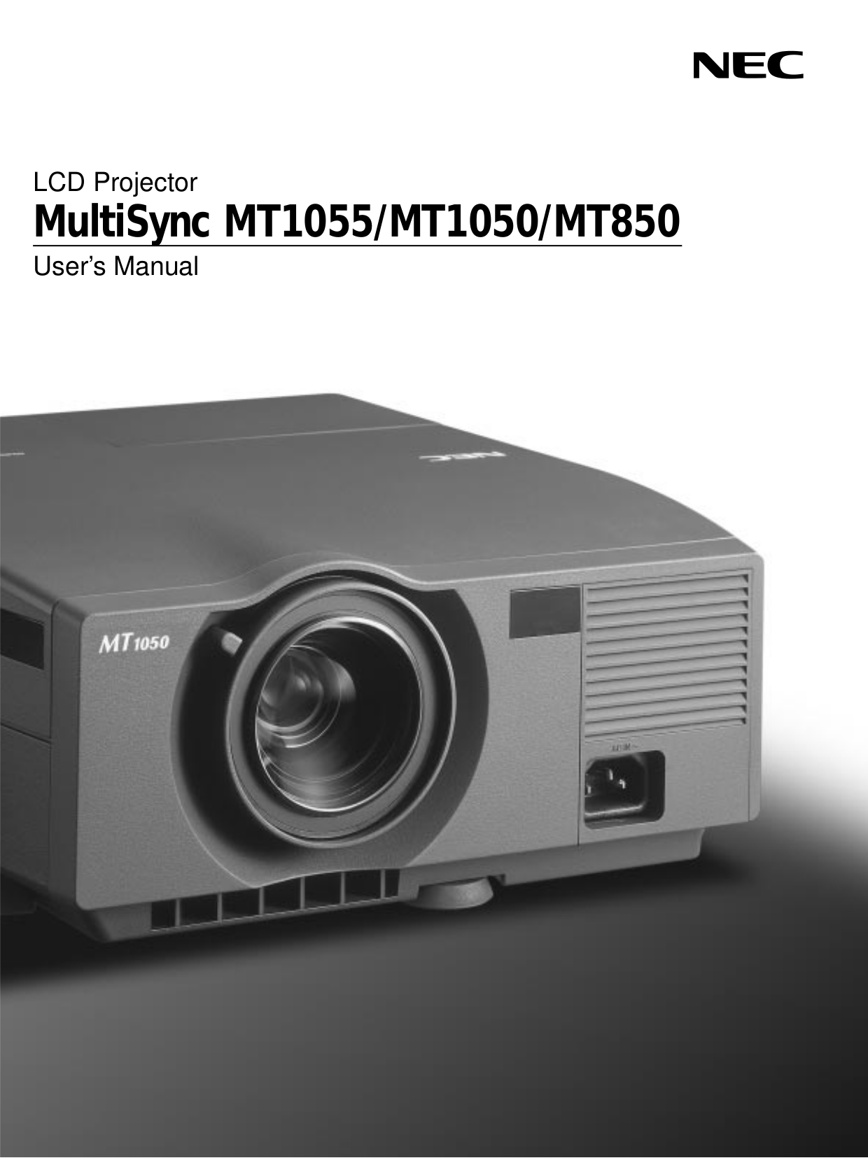 download free pdf for nec mt1050 projector manual rh umlib com NEC VT 47 Projector Manual NEC Projectors Troubleshooting