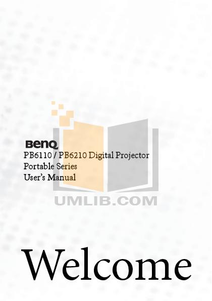 pdf for Benq Projector PB6110 manual