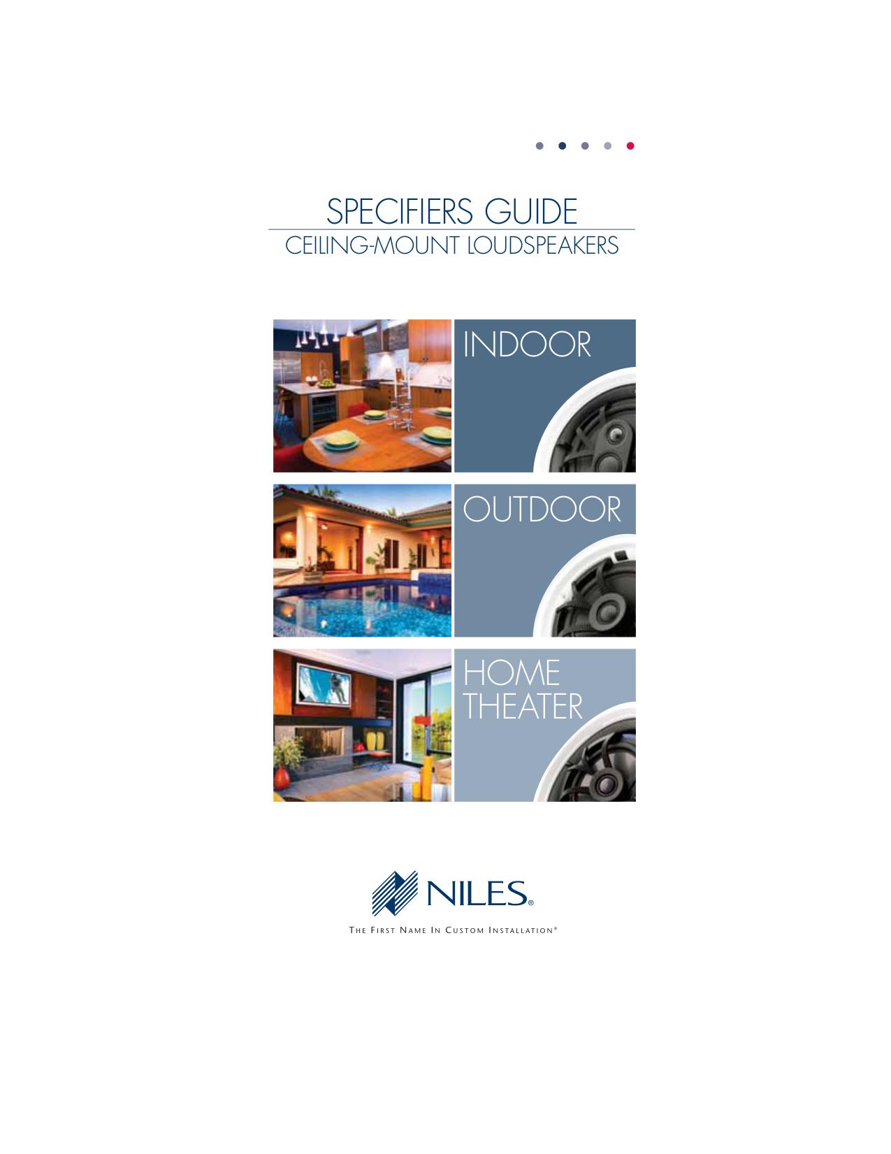pdf for Niles Speaker CM750Si manual