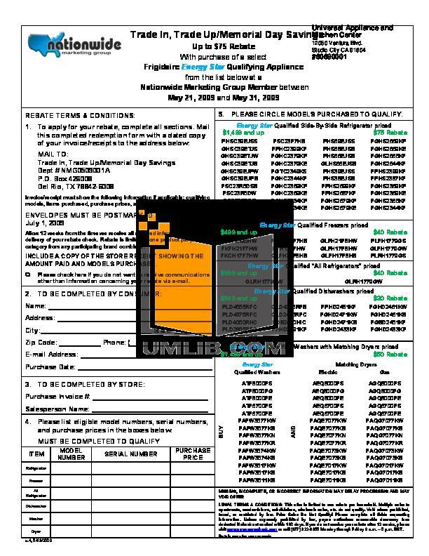pdf for Frigidaire Refrigerator Gallery Series GHSC39EJPW manual