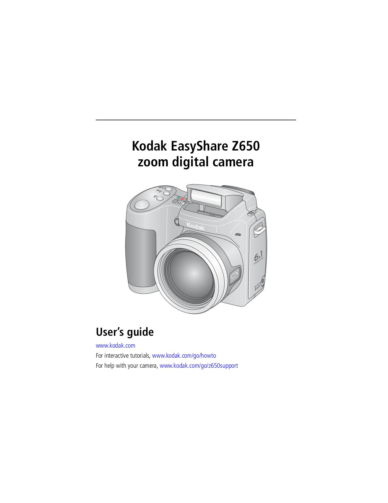 pdf for Kodak Digital Camera EasyShare Z650 manual