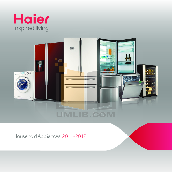 pdf for Haier Refrigerator HR-100 manual