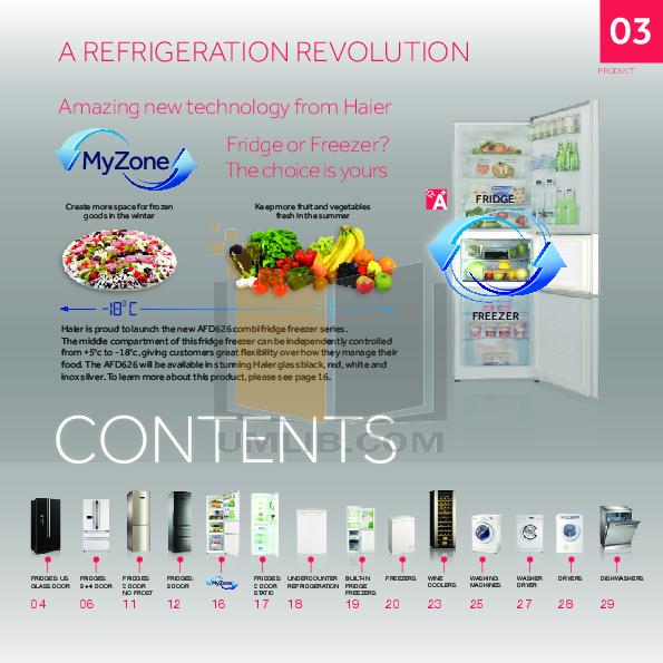 Haier Refrigerator HR-100 pdf page preview