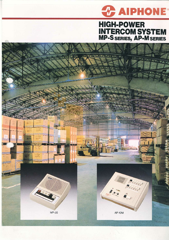 pdf for Aiphone Other AS-3N Intercoms manual