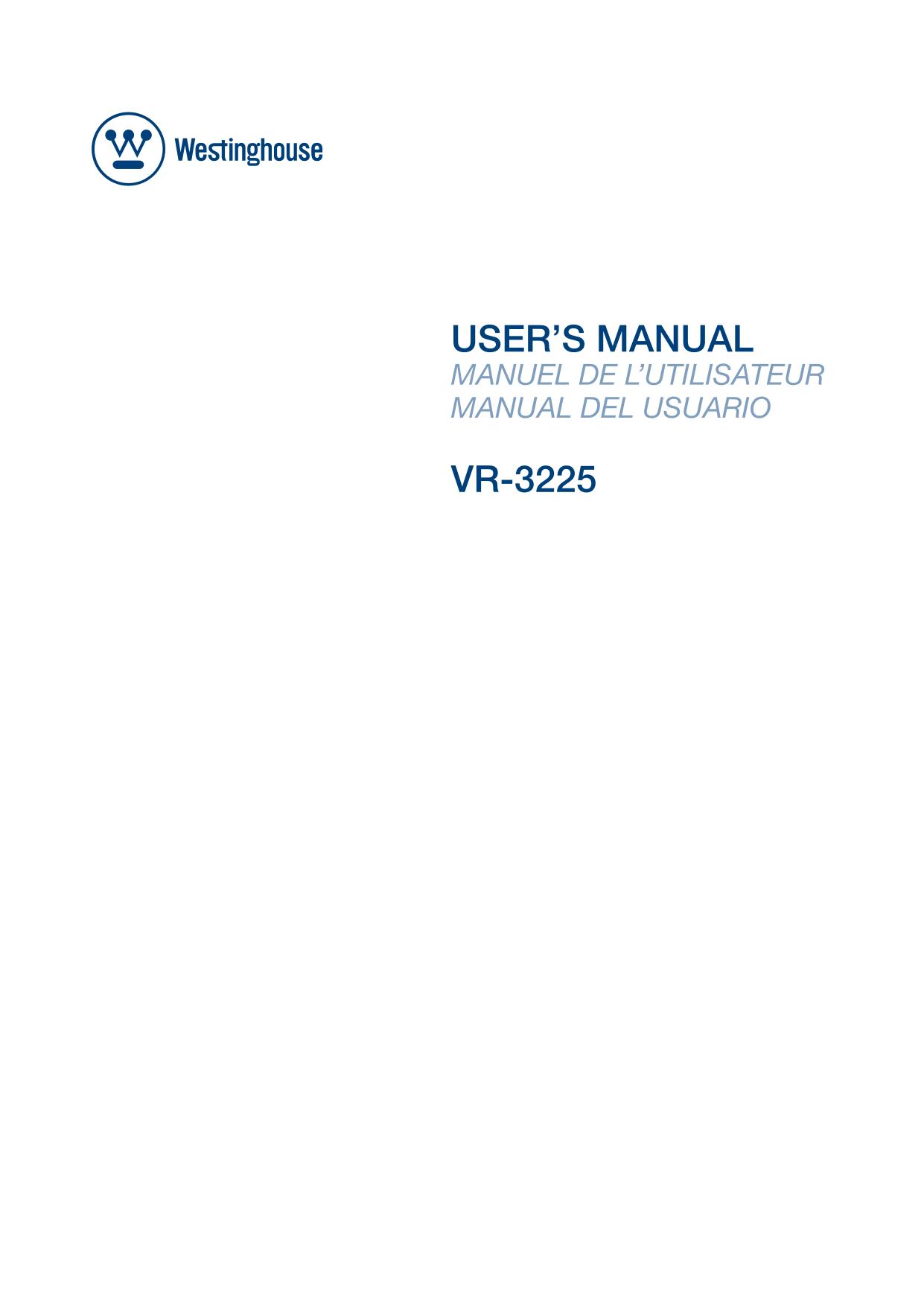 download free pdf for westinghouse vr 3225 tv manual rh umlib com westinghouse tv vr-3225 manual westinghouse tv vr-3225 manual