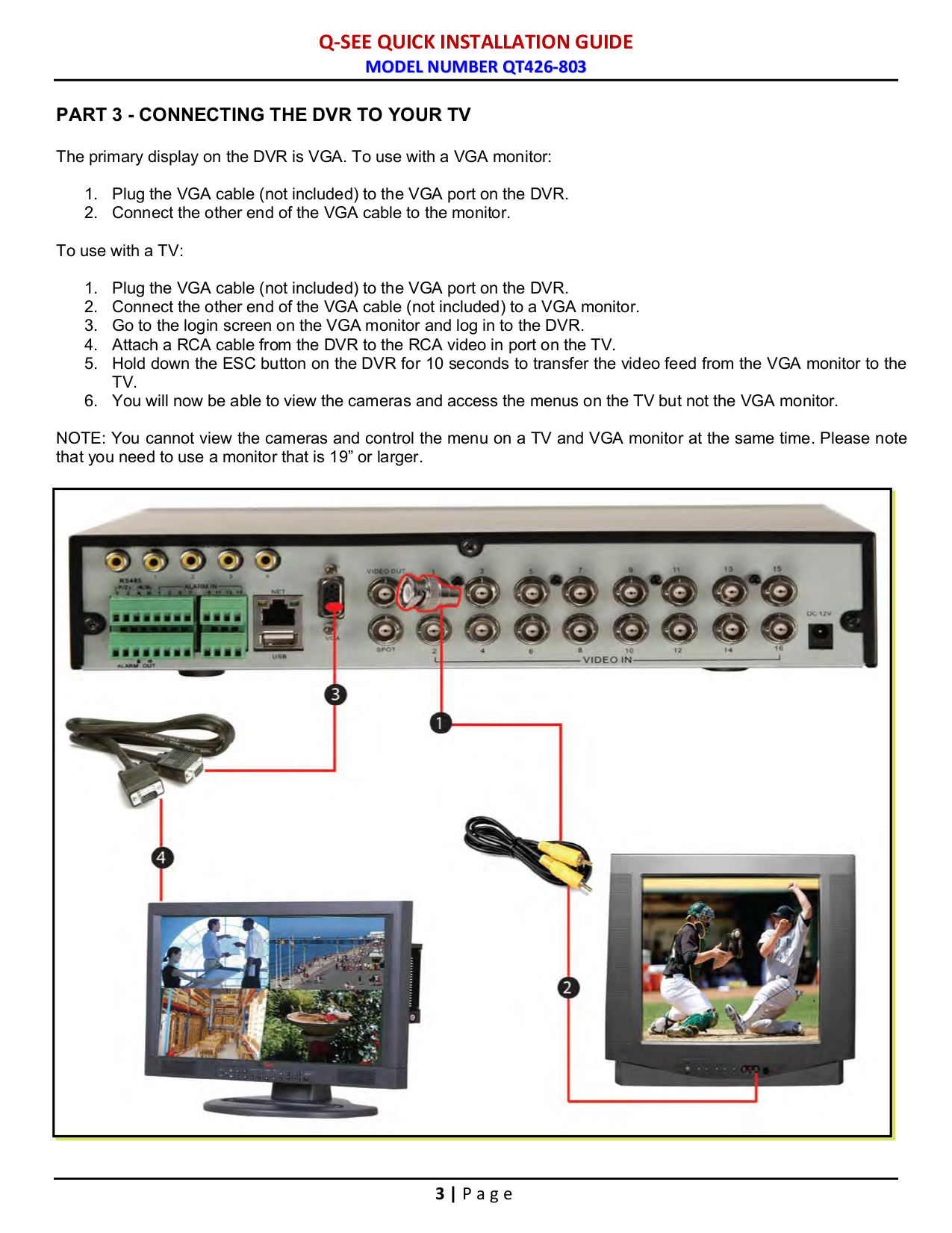 Q See Camera Wiring Diagram 27 Images Tv Distribution System Moreover Winnebago Diagrams Security Qsds14273w Pdf Page Preview