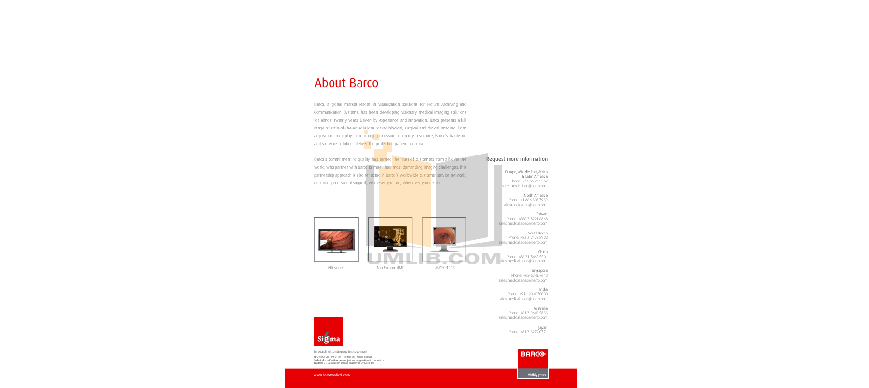Barco Monitor Nio Fusion 4MP pdf page preview