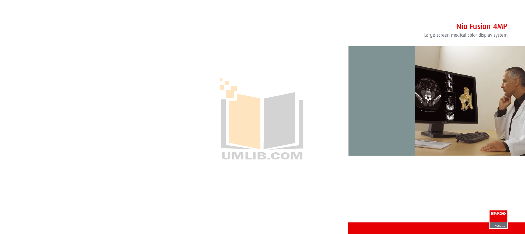 pdf for Barco Monitor Nio Fusion 4MP manual