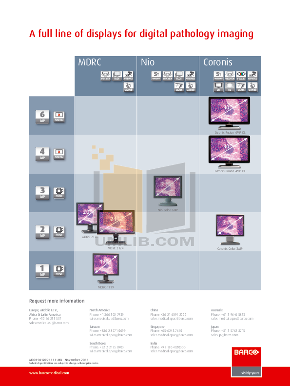 Barco Monitor Nio Fusion 4MP pdf page preview