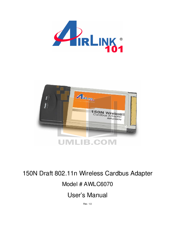 pdf for Airlink Other AWLC6070 Adapters manual