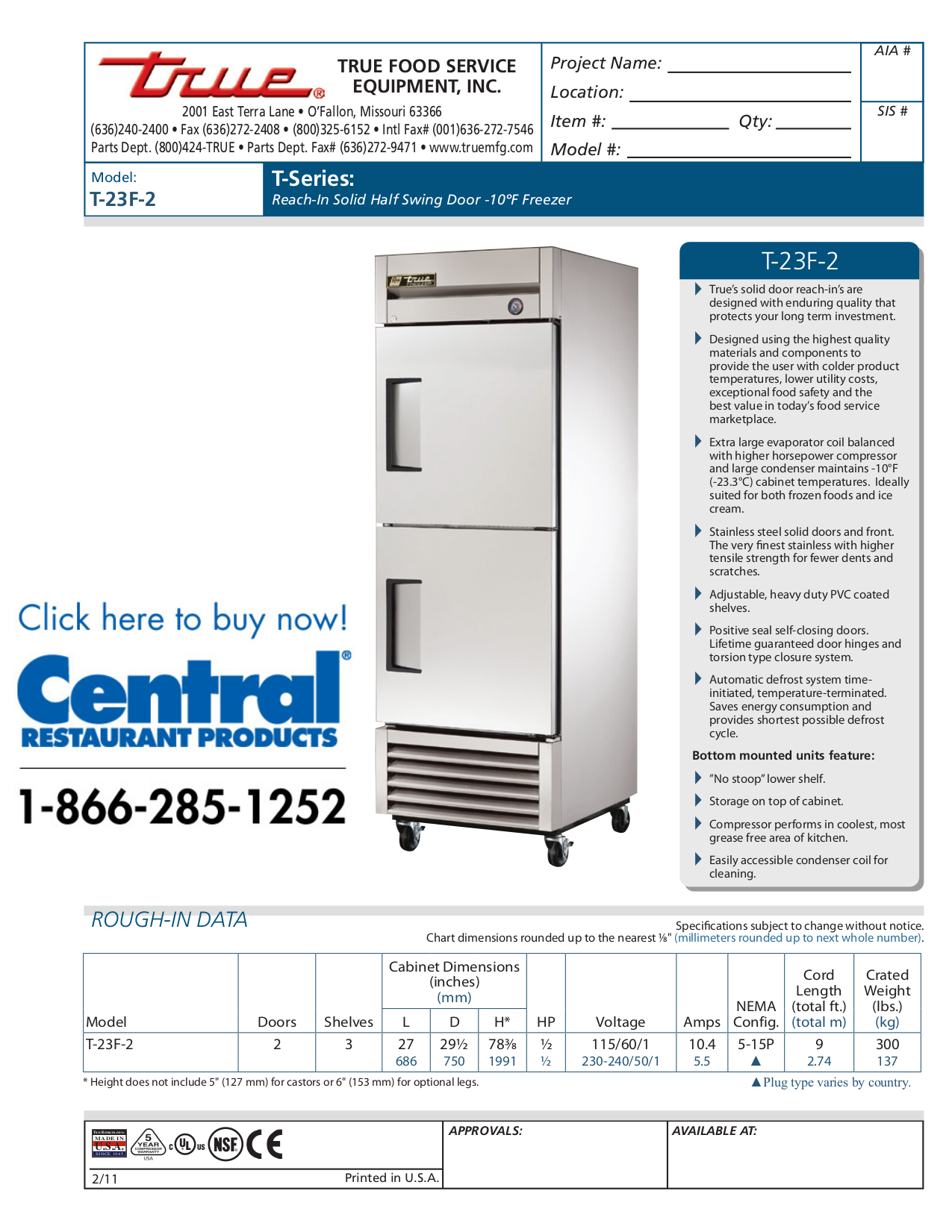675 199.pdf 0 download free pdf for true t 23f freezer manual  at couponss.co
