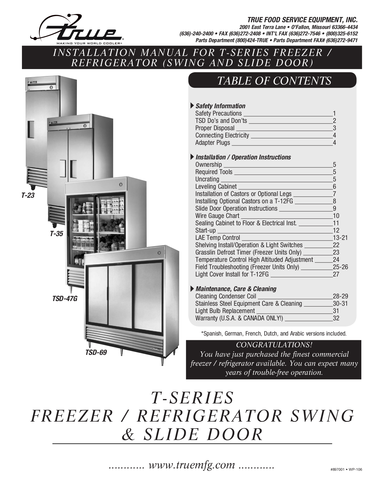 TrueTSeries.pdf 0 download free pdf for true t 23f freezer manual true freezer t-23f wiring diagram at gsmportal.co