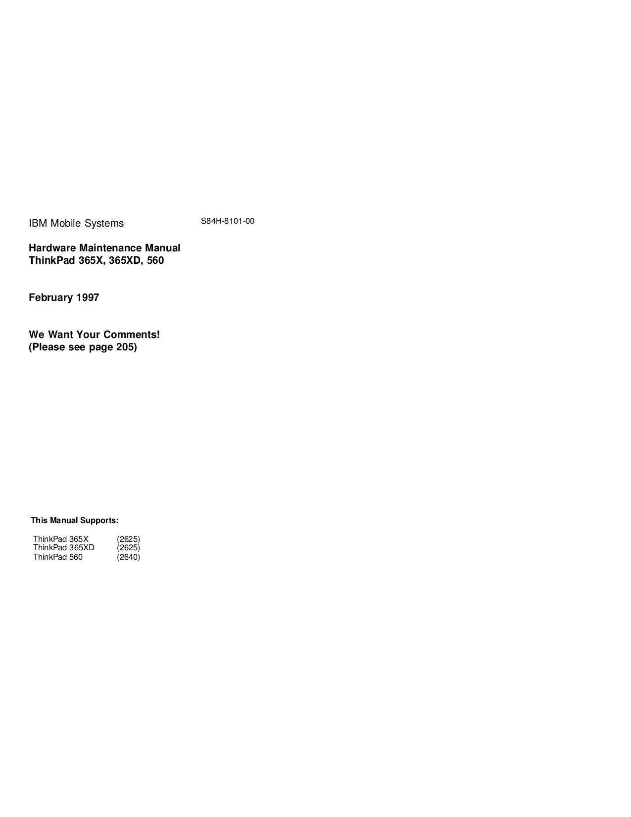 pdf for IBM Laptop ThinkPad 560X manual