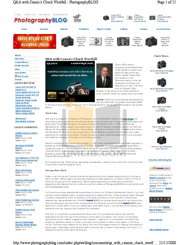 pdf for Canon Digital Camera Powershot SX10 IS manual