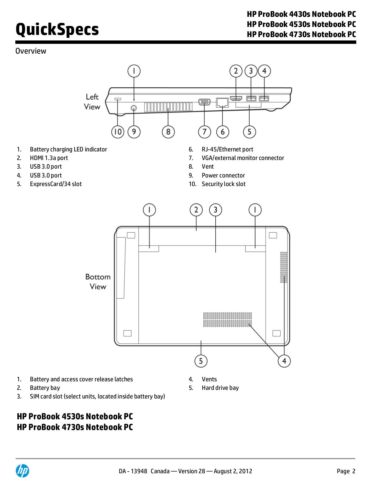 PDF manual for HP Laptop ProBook 4730s