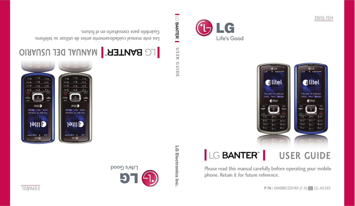download free pdf for lg banter cell phone manual rh umlib com LG Banter Touch UN510 LG Slide Phone Orange