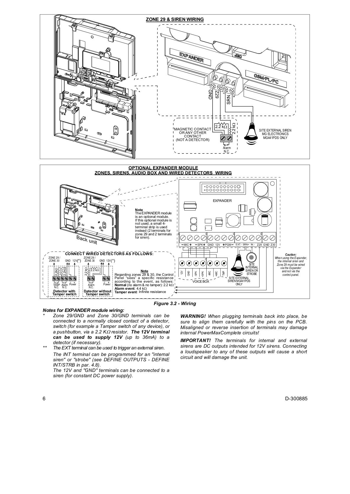 pdf manual for visonic other mkp 151 wireless keypads rh umlib com Code 3 Siren Wiring-Diagram 3 Wire Siren Wiring