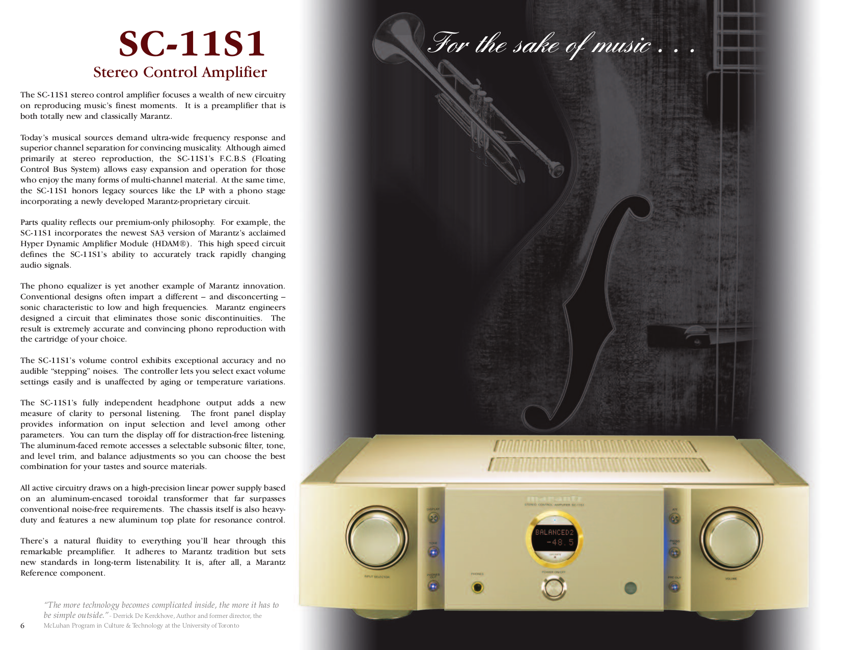 ... Marantz Amp PM-11S1 pdf page preview ...