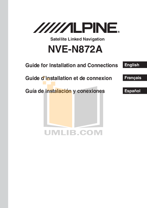 pdf for Alpine Car Video IVA-D300 manual