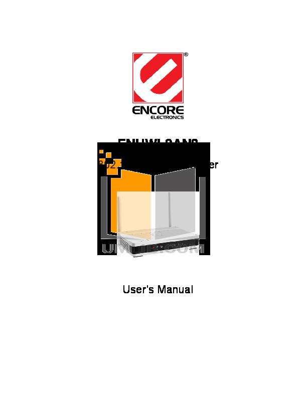 pdf for Encore Wireless Router ENHWI-G manual