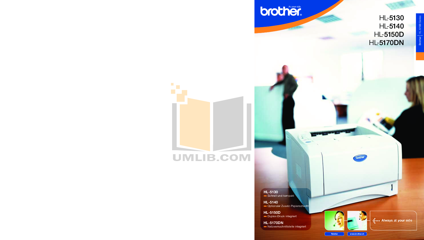 pdf for Brother Printer HL-5130 manual