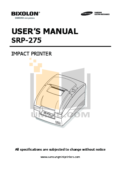 pdf for Citizen Printer iDP-3551 manual