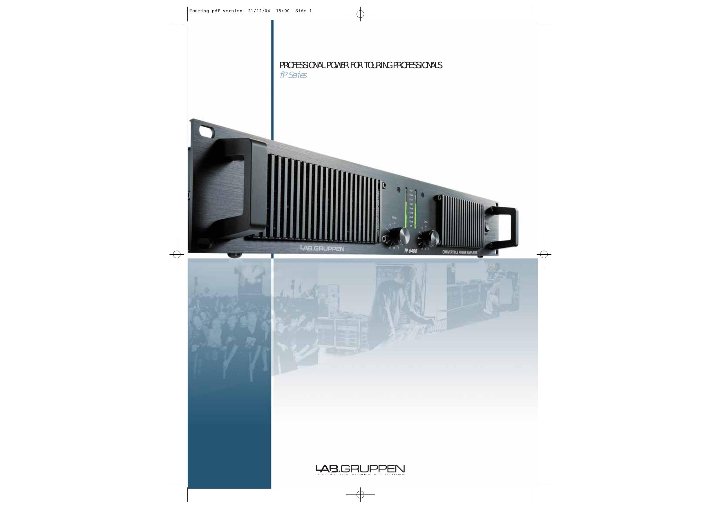 pdf for Lab.gruppen Amp fP Series FP 3400 manual