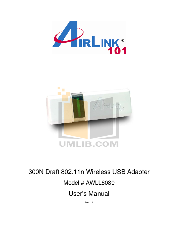 pdf for Airlink Other AWLC6080 Adapters manual