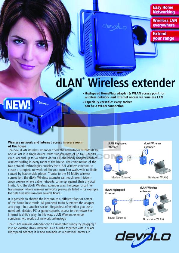 pdf for Devolo Other dLAN Wireless Extender Extenders manual