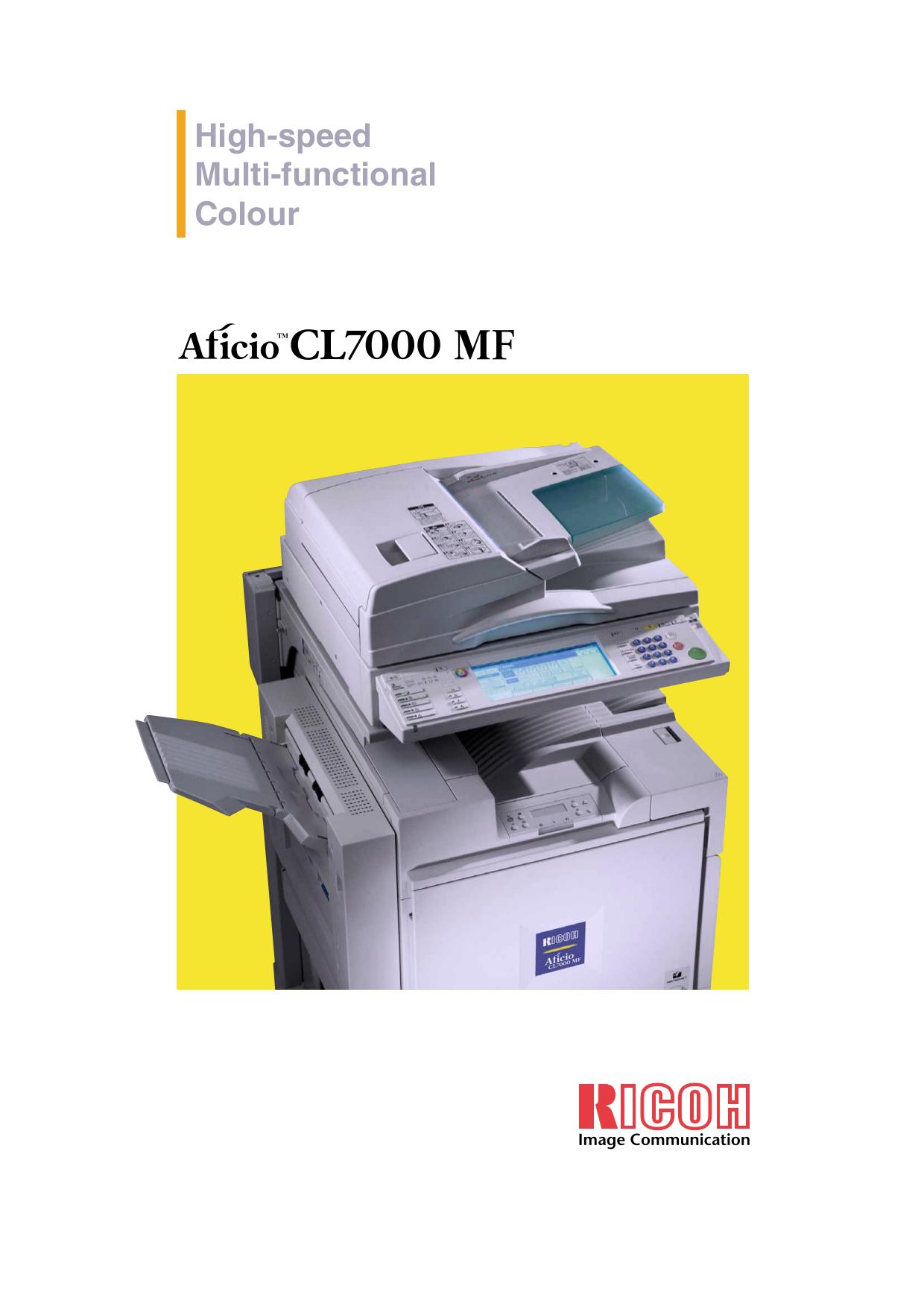 download free pdf for ricoh cl7000 printer manual rh umlib com Ricoh Aficio Toner Cartridge Ricoh Aficio Toner Cartridge