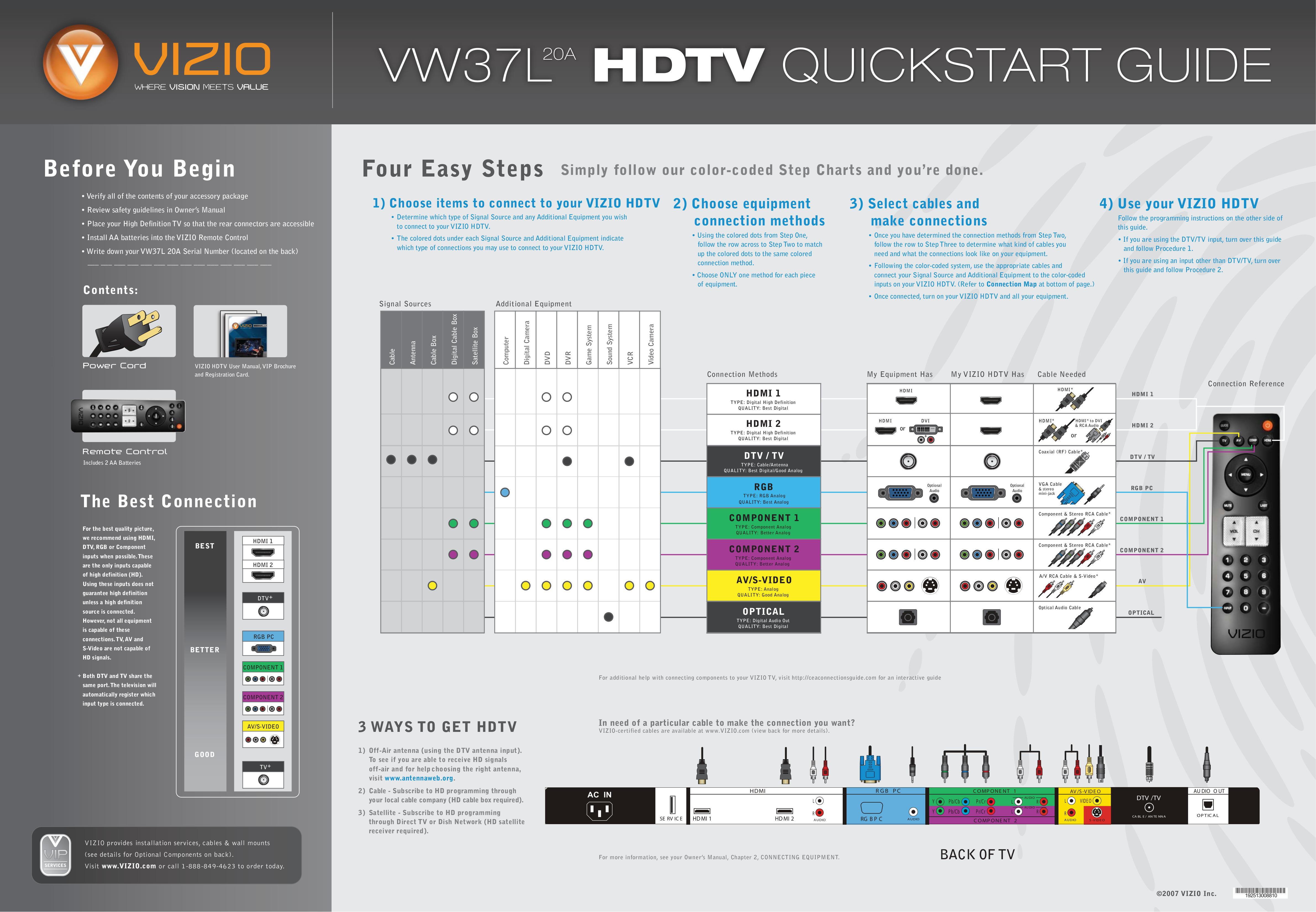 download free pdf for vizio vw37l tv manual rh umlib com Vizio VX37L Service Manual Vizio 1080P Manual
