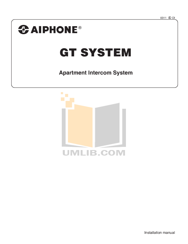 pdf for Aiphone Other MK-DV Intercoms manual