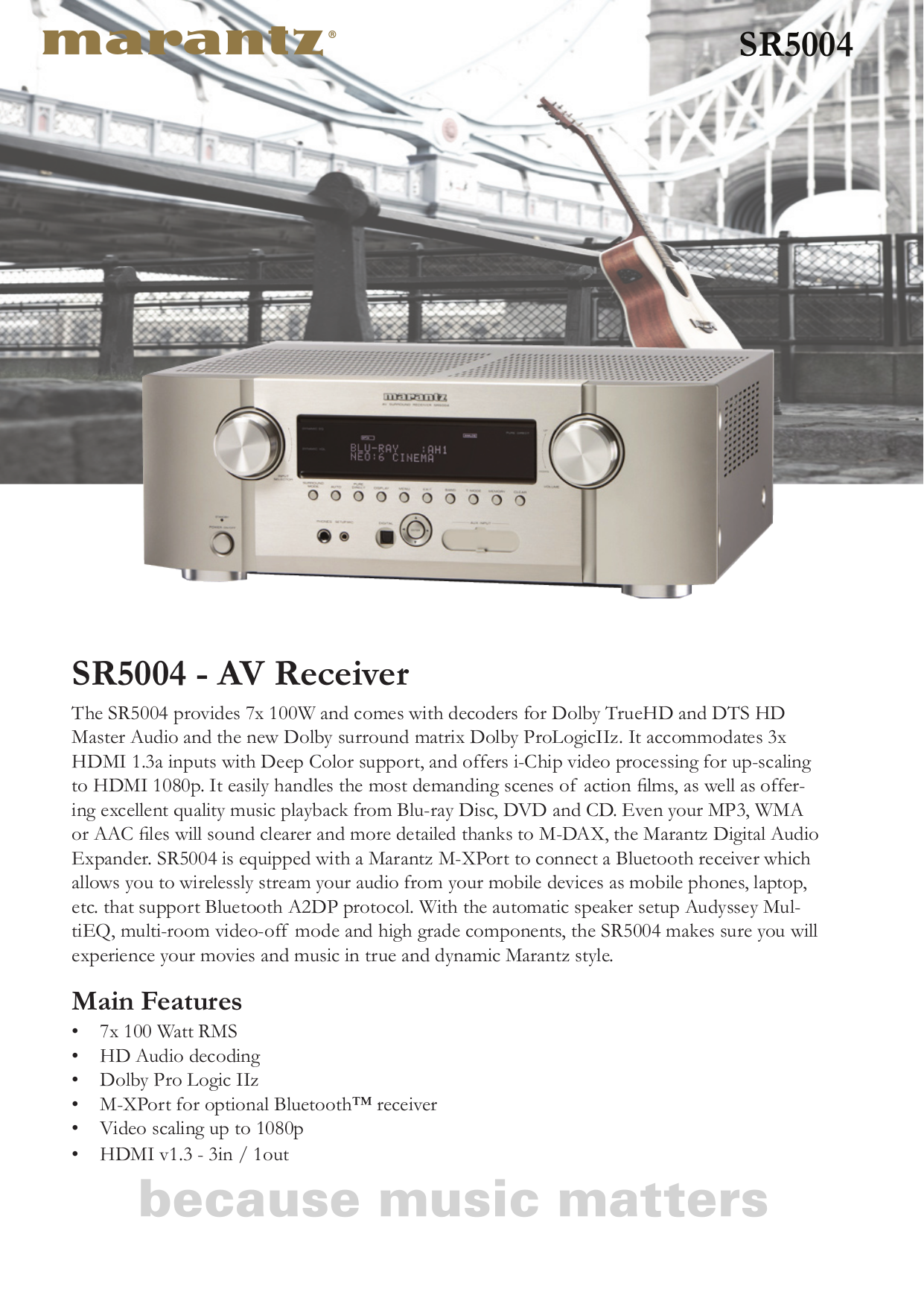 download free pdf for marantz sr5004 receiver manual rh umlib com Marantz 5004 Review Receiver Marantz SR5004
