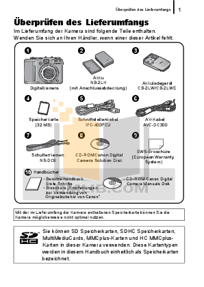 Canon Digital Camera Powershot G9 pdf page preview