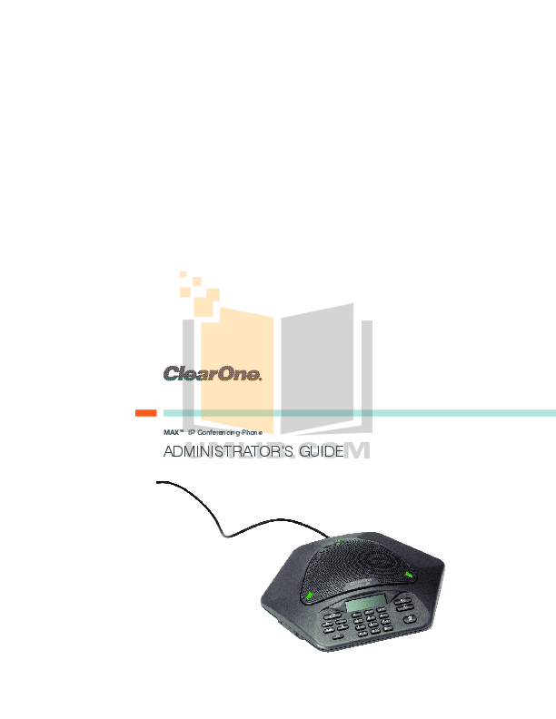 pdf for ClearOne Telephone MAXAttach IP manual