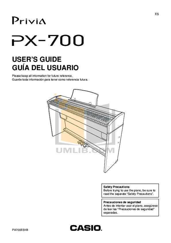 casio privia px 310 manual