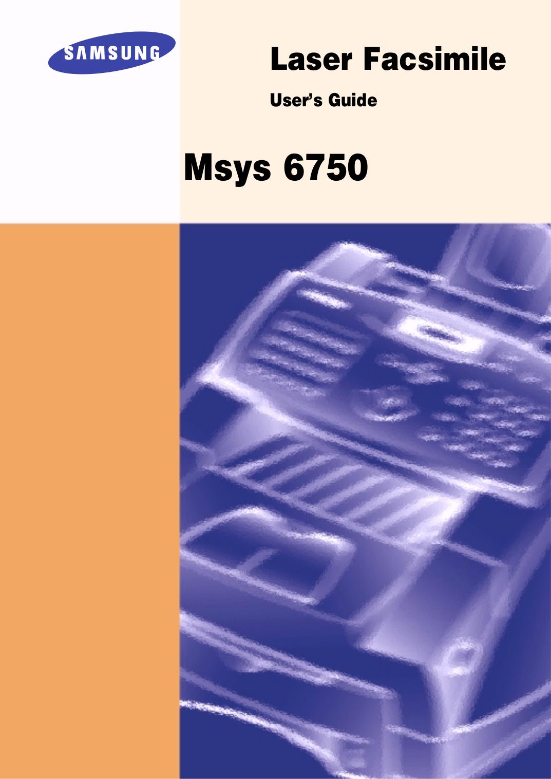 pdf for Samsung Multifunction Printer Msys 835P manual