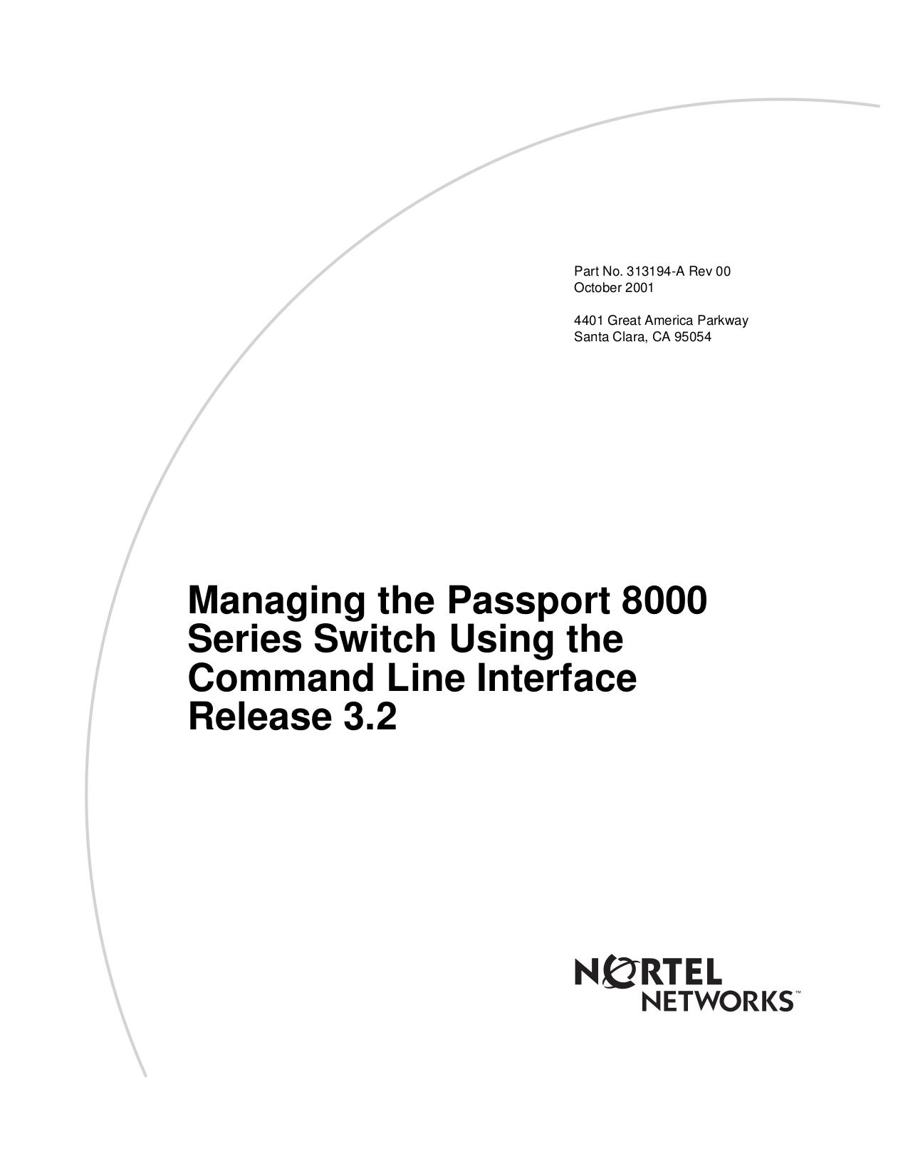 pdf for Nortel Switch Passport 8608GTE manual