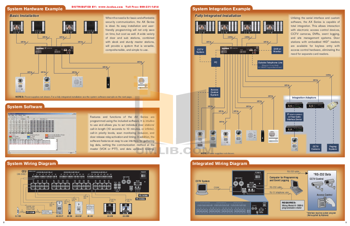 pdf for Aiphone Other AX-BN Intercoms manual