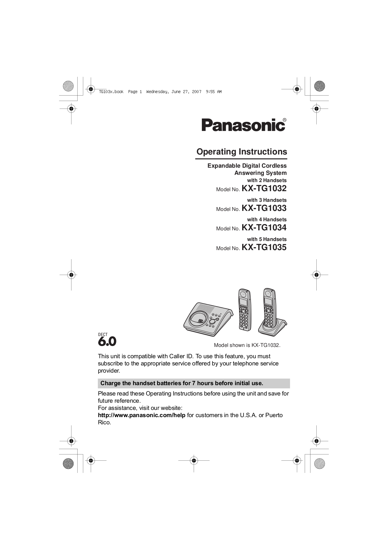 download free pdf for panasonic kx tga101 telephone manual rh umlib com Panasonic Telephone 6.0 Manual Operating Manuals Panasonic Phones