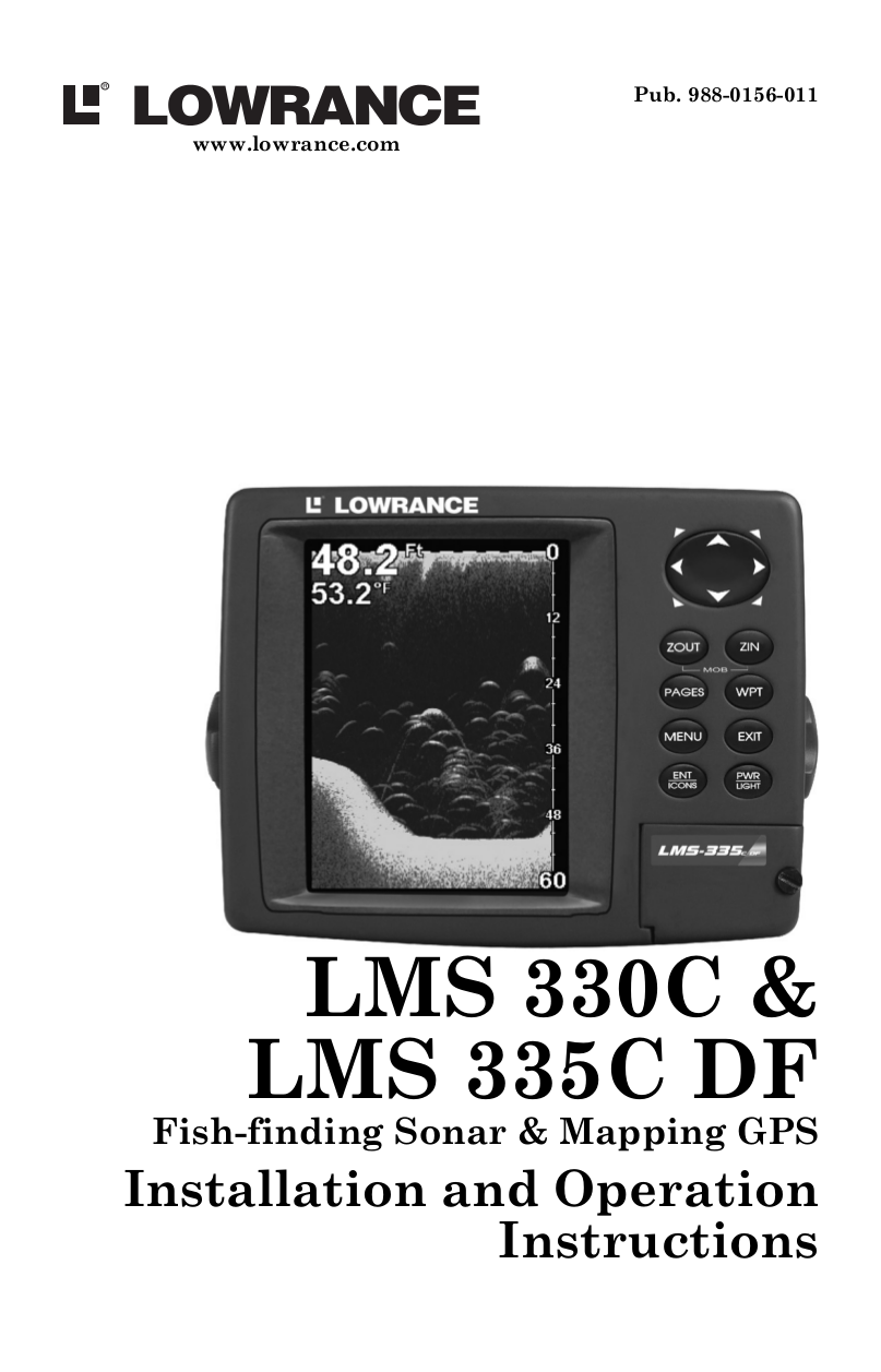 pdf for Lowrance GPS LMS-335CDF manual