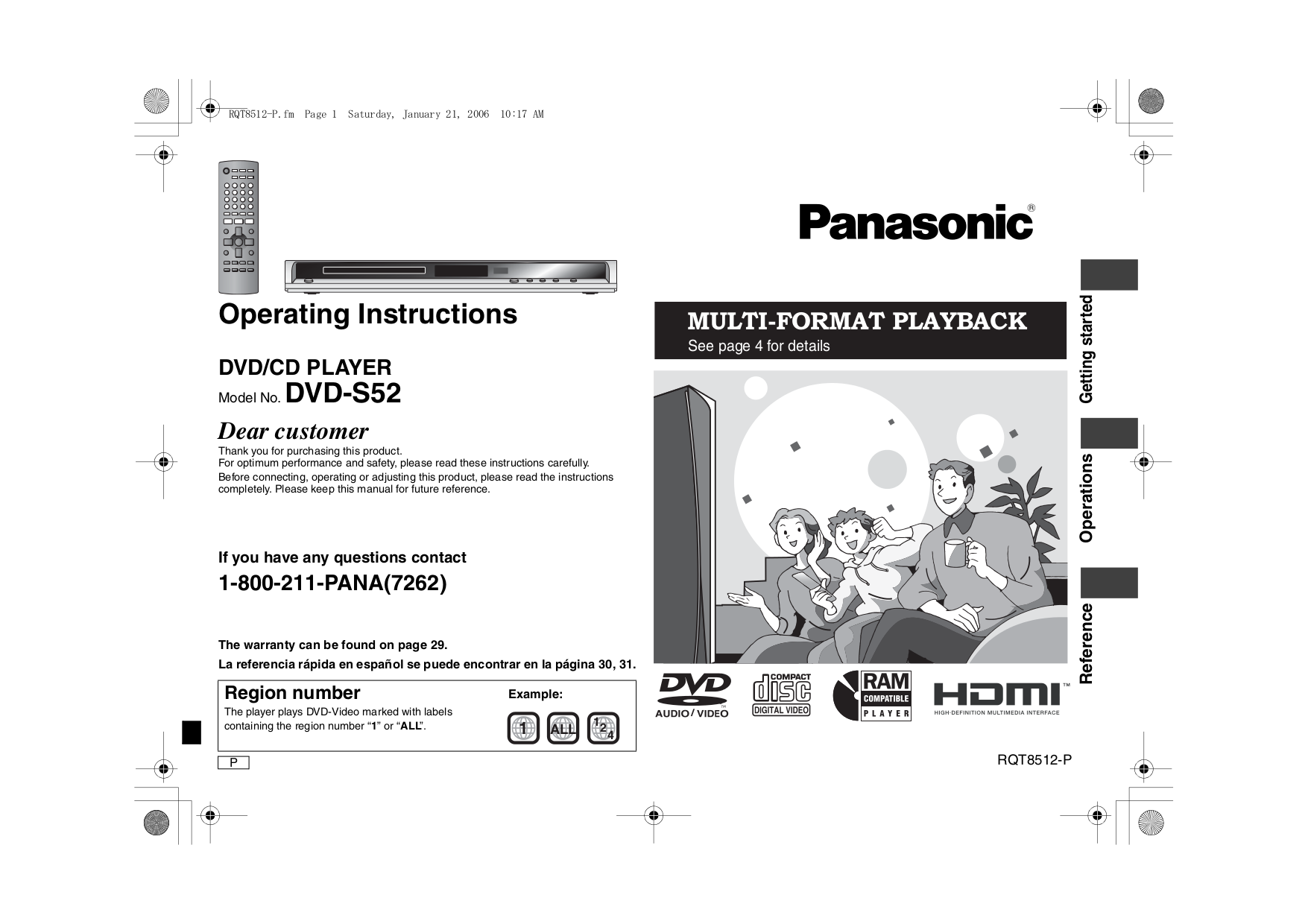 download free pdf for panasonic dvd s53 dvd players manual rh umlib com Panasonic DMR EZ48V DVD Recorder Manual Panasonic DVD CD Player