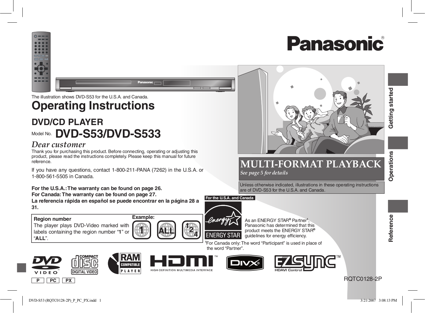 download free pdf for panasonic dvd s53 dvd players manual rh umlib com panasonic s53 dvd player manual Panasonic DVD CD Player