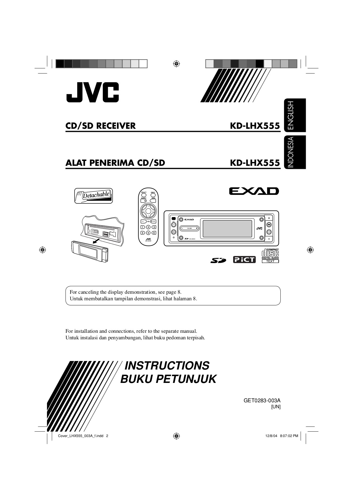 pdf for JVC CD Player CH-X1500RF manual