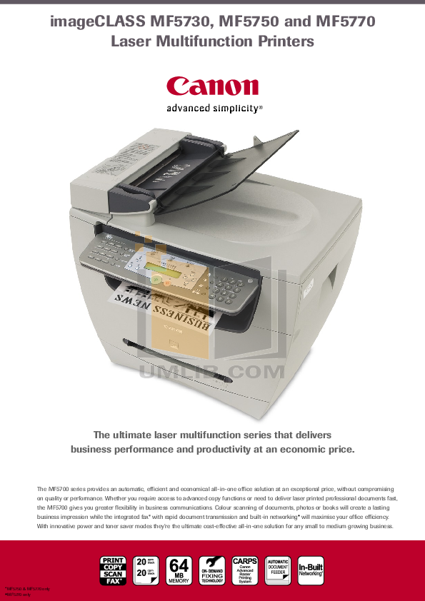 download free pdf for canon imageclass mf5730 multifunction printer rh umlib com canon laserbase mf5730 manual Canon T2i Manual