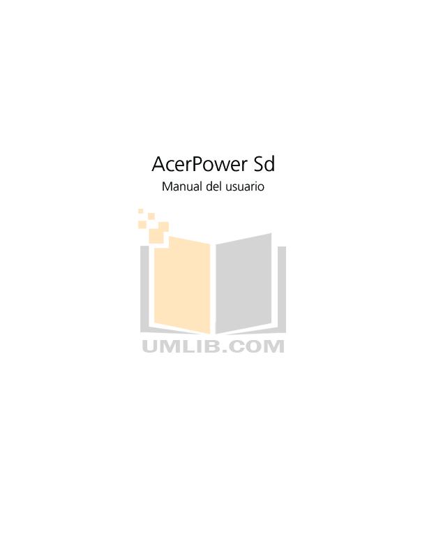 pdf for Acer Desktop AcerPower Sd manual