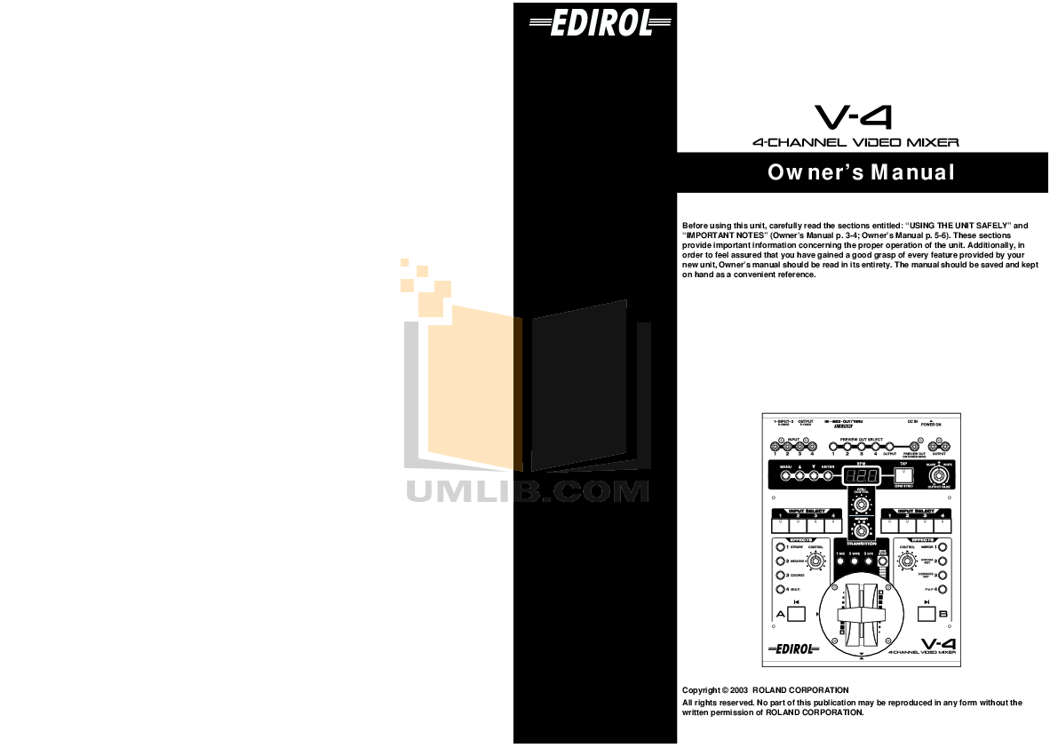 Roland v8 v-8 video mixer complete service manual download manual.