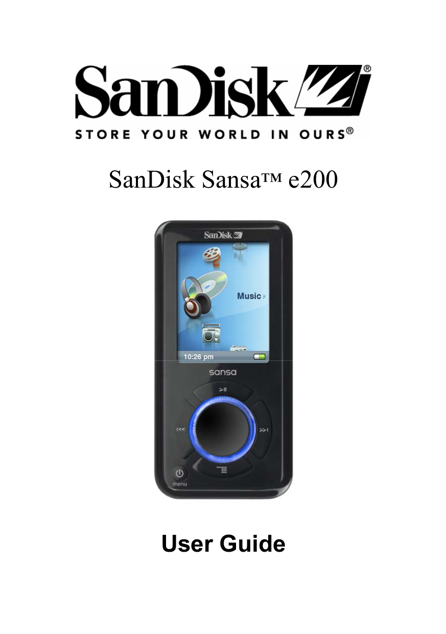 sansa e260 manual product user guide instruction u2022 rh testdpc co sandisk clip mp3 player manual sandisk sansa clip+ 4gb mp3 player manual
