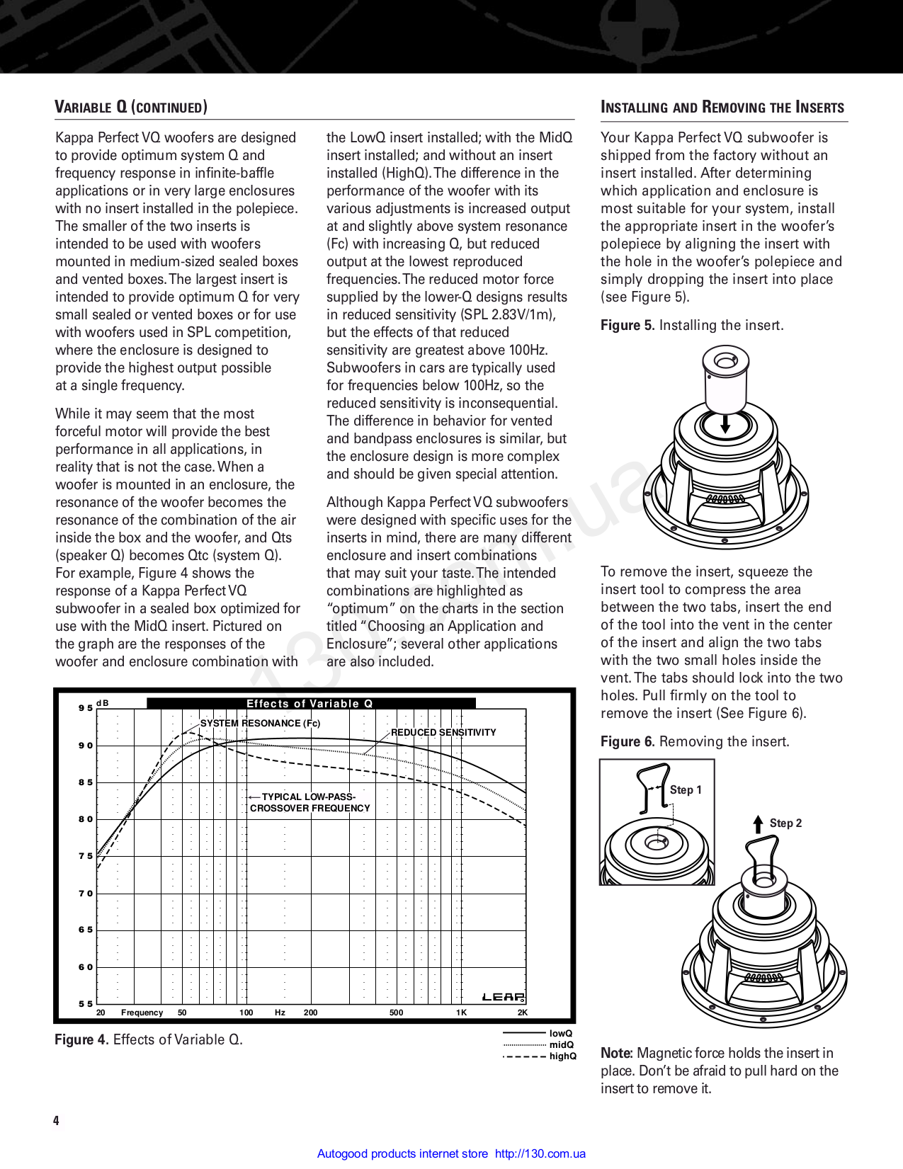 nowy przyjeżdża Darmowa dostawa oficjalny sklep PDF manual for Infinity Subwoofer Kappa Series perfect 10 VQ